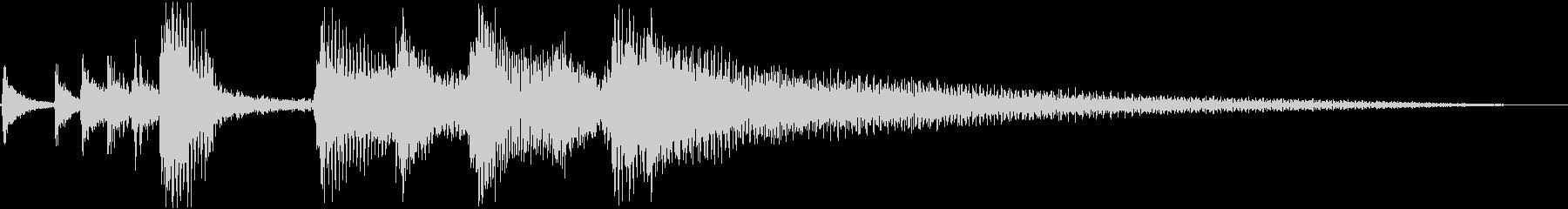 ウクレレやアコースティック楽器で演...の未再生の波形