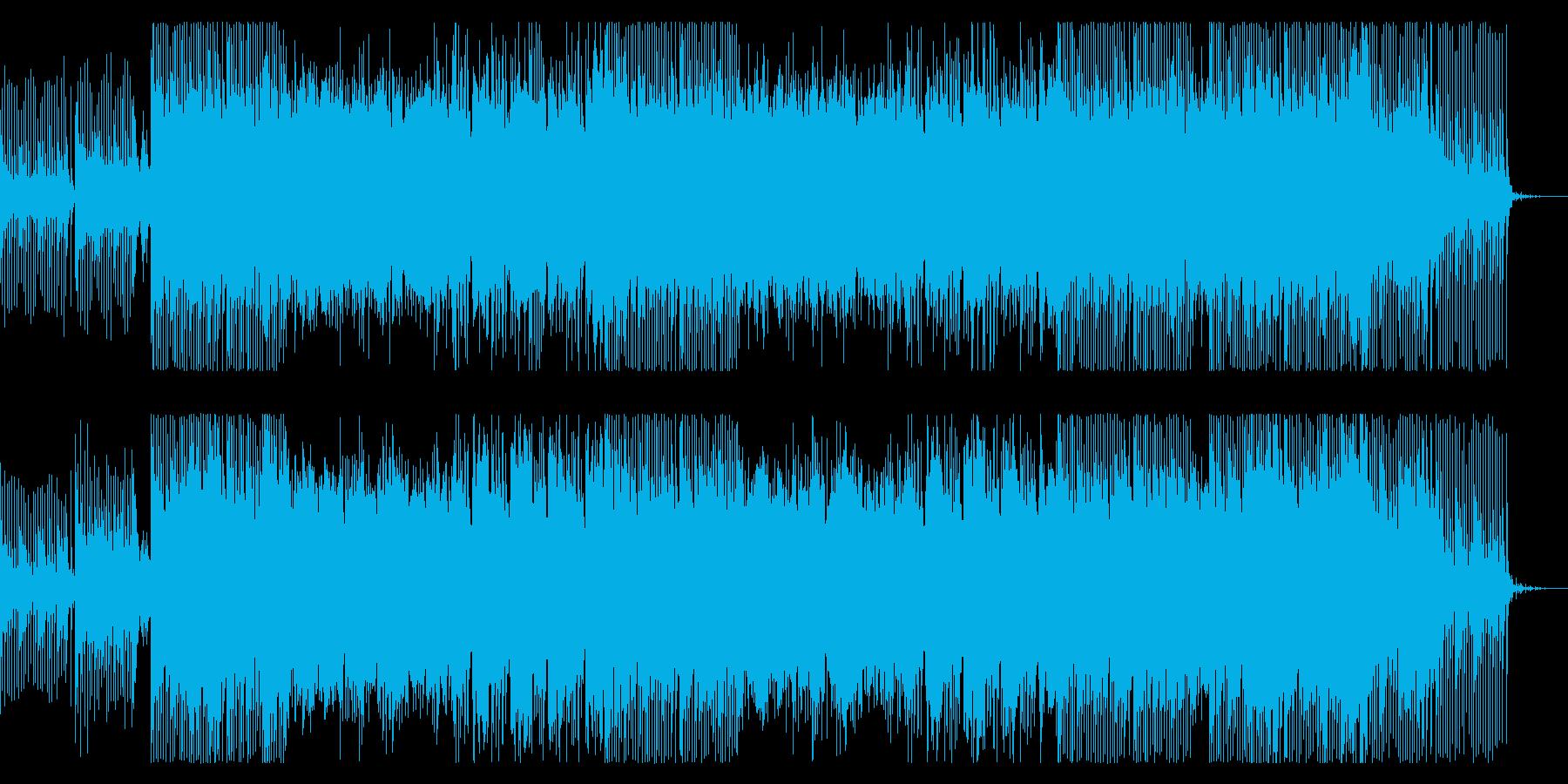 三味線と尺八。激しい和風ロックの再生済みの波形
