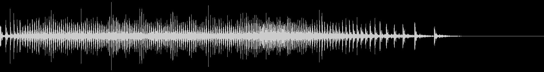 [生録音]魚釣り、リールを巻く04の未再生の波形