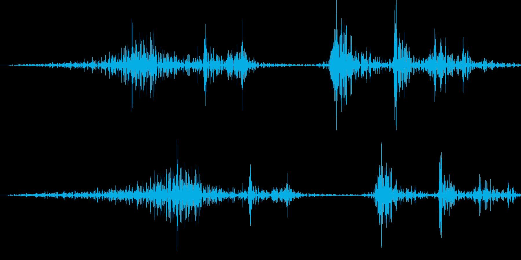 汎用ボタン1 ページ送り・セット等の再生済みの波形