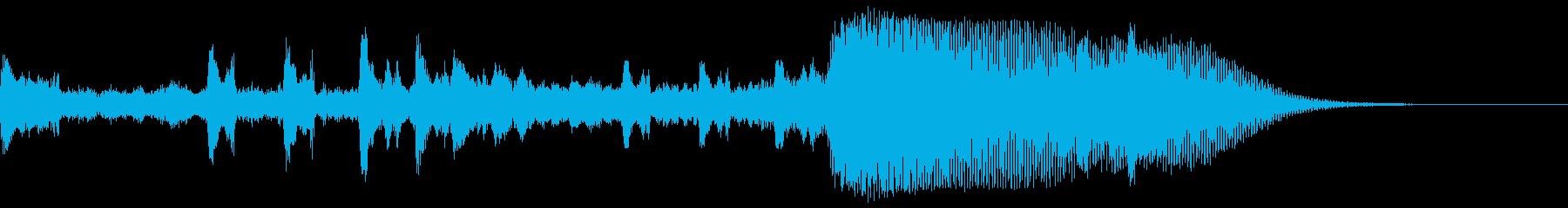 リズミカル〜重層に変化するサウンドロゴの再生済みの波形