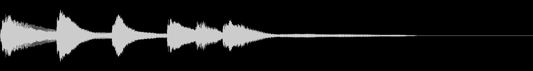 ホラーテイストなピアノジングルの未再生の波形