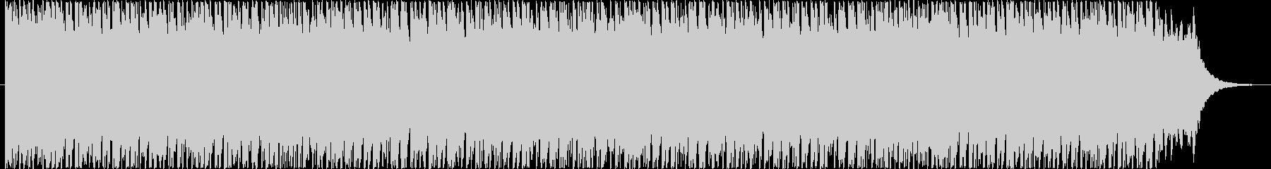 疾走感溢れるテクノ風BGMの未再生の波形