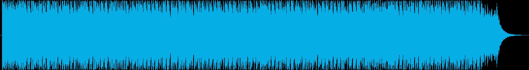 疾走感溢れるテクノ風BGMの再生済みの波形