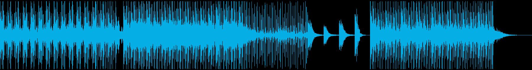 クールなビートとシンセサウンドの再生済みの波形