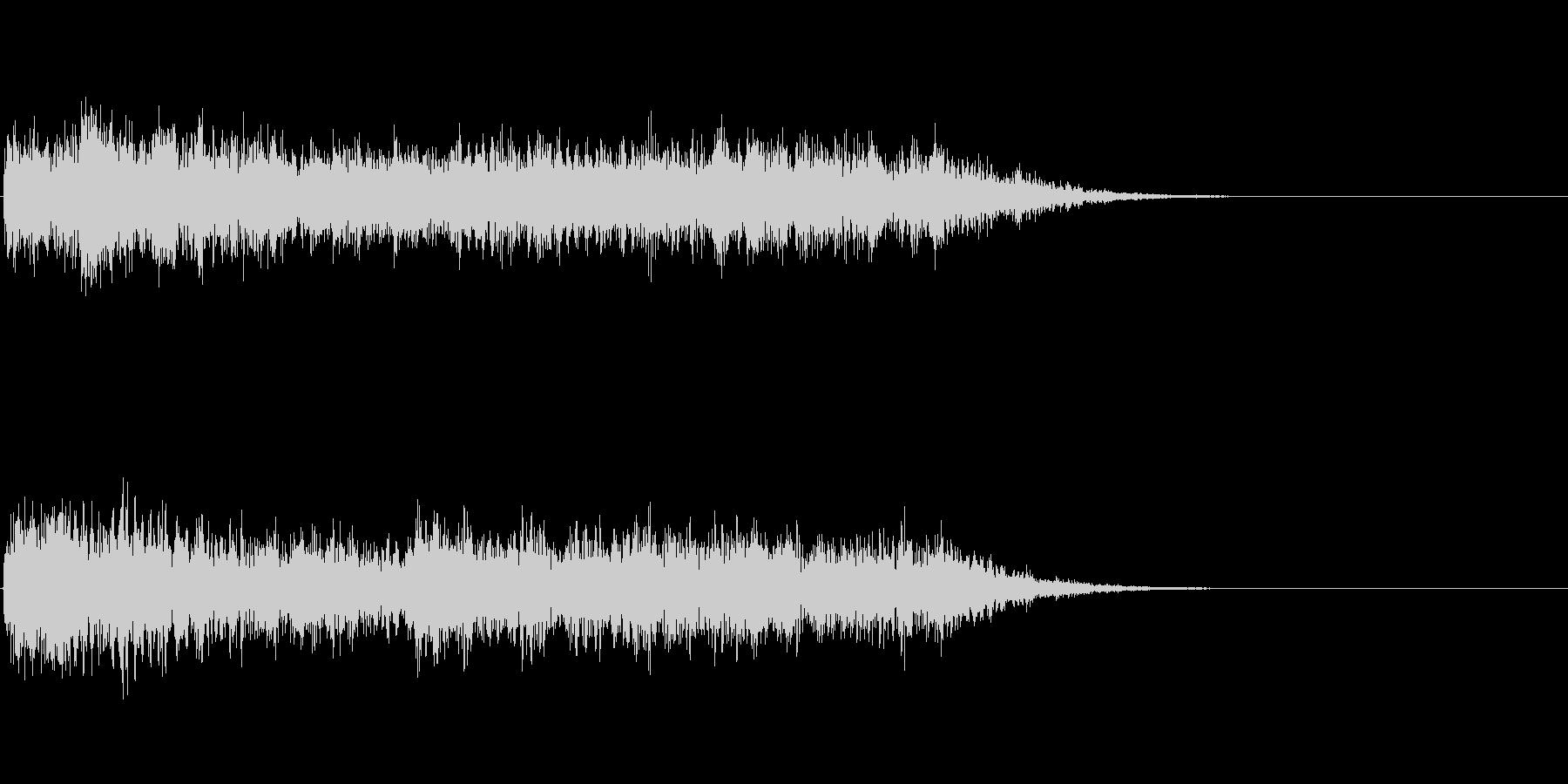 重厚なノイズ効果音の未再生の波形