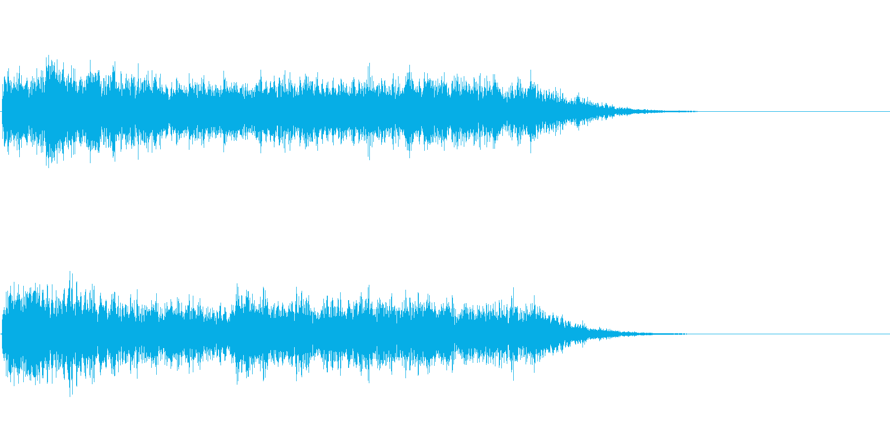 重厚なノイズ効果音の再生済みの波形