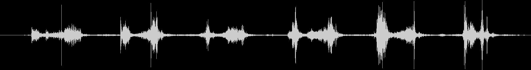 トランプ:2ハンドソフトシャッフル...の未再生の波形
