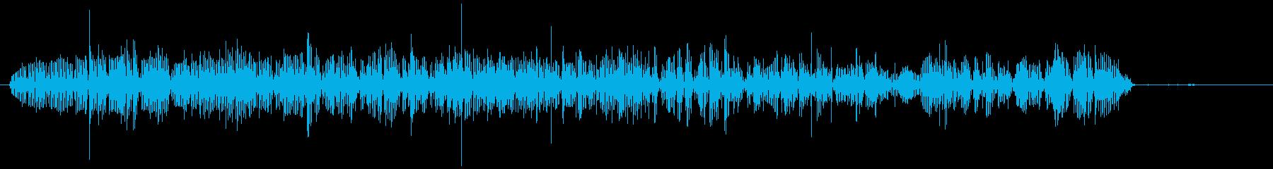 ガーグル:食べる、飲む、むしゃむしゃの再生済みの波形