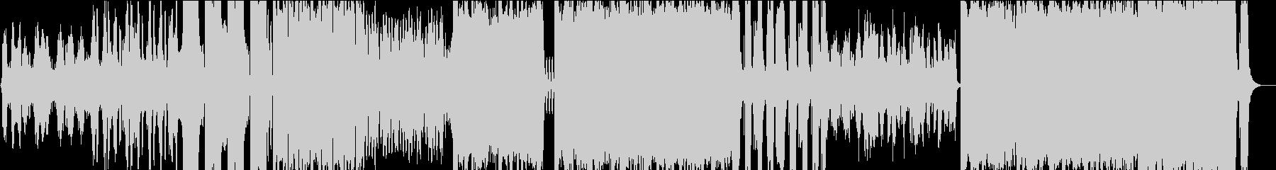 男性英語ボーカルのハウス風楽曲の未再生の波形
