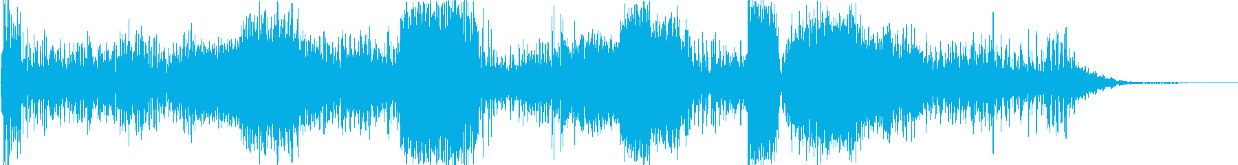 重い深宇宙の明るい無線干渉の再生済みの波形