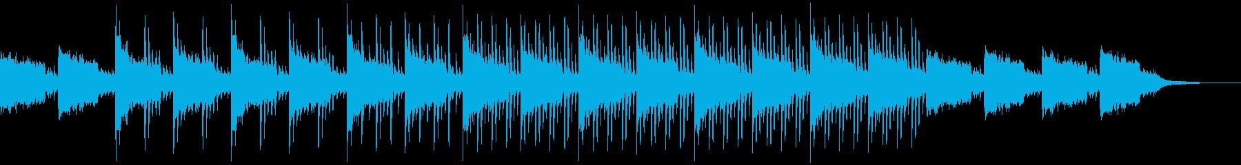 スリラー映画予告曲 異様な雰囲気で迫る曲の再生済みの波形