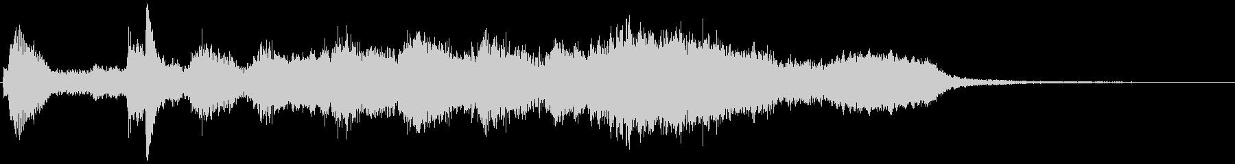ピアノとシンセの神秘的なロゴの未再生の波形