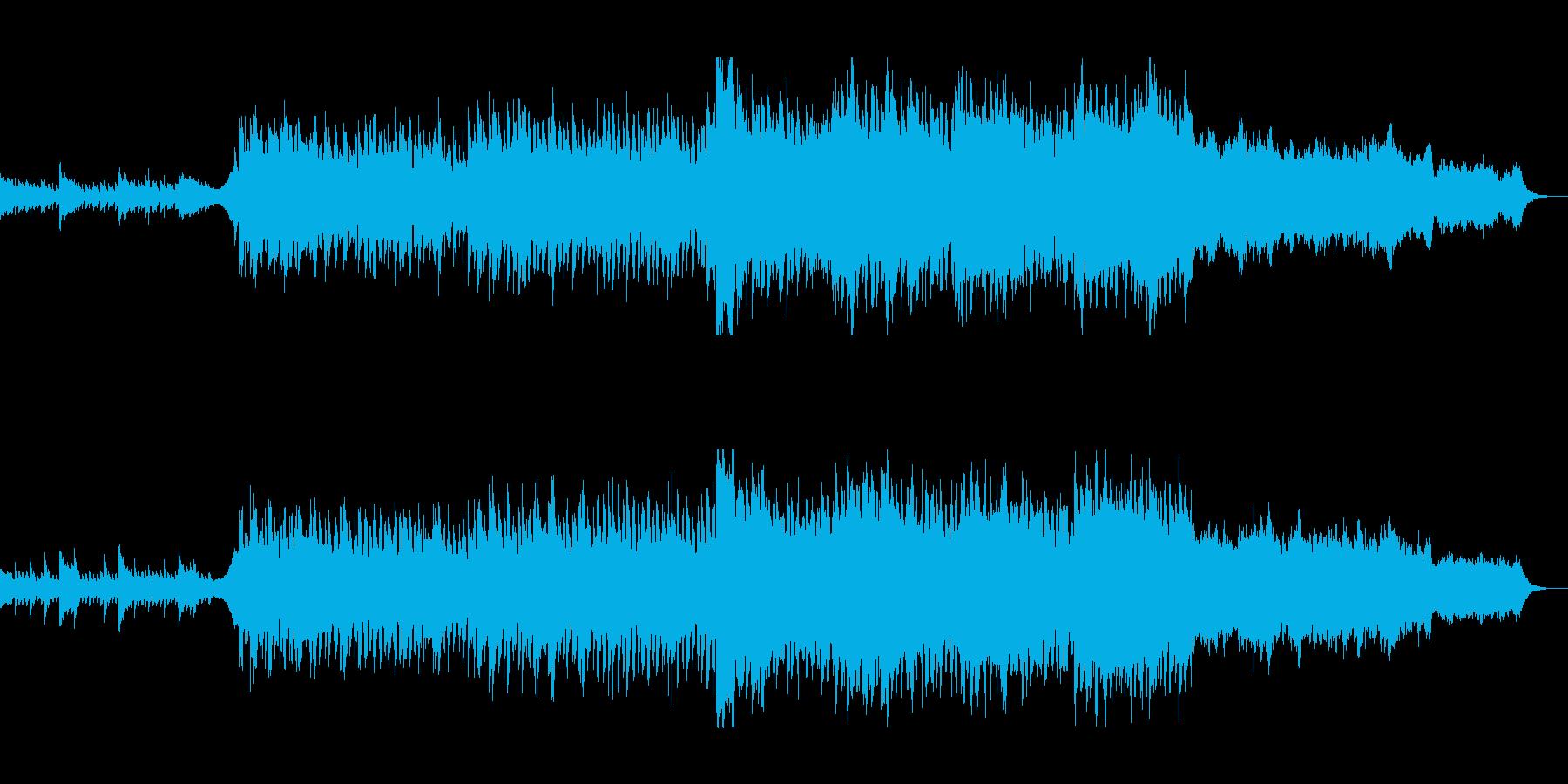 広大で美しいピアノヒーリングミュージックの再生済みの波形