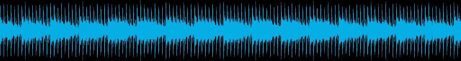 暗くてゆったりしたハウスミュージックの再生済みの波形