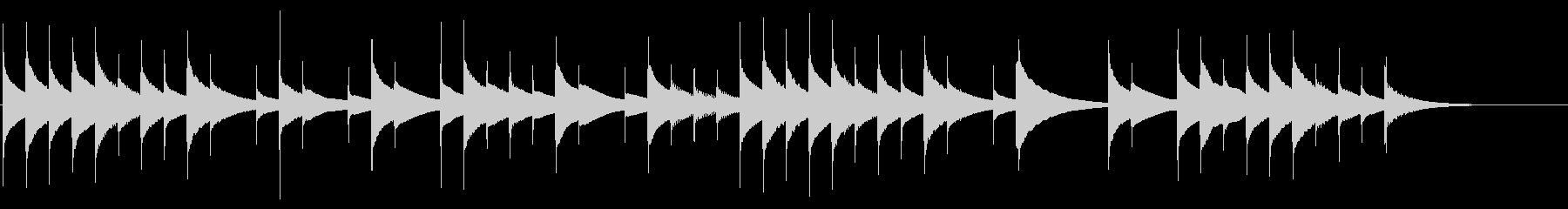 ショートver オルゴール おやすみの未再生の波形