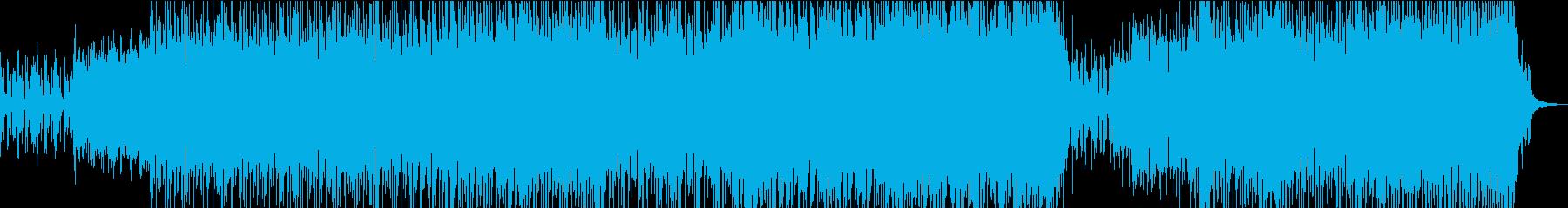 エッジの効いたエレクトロロックの再生済みの波形