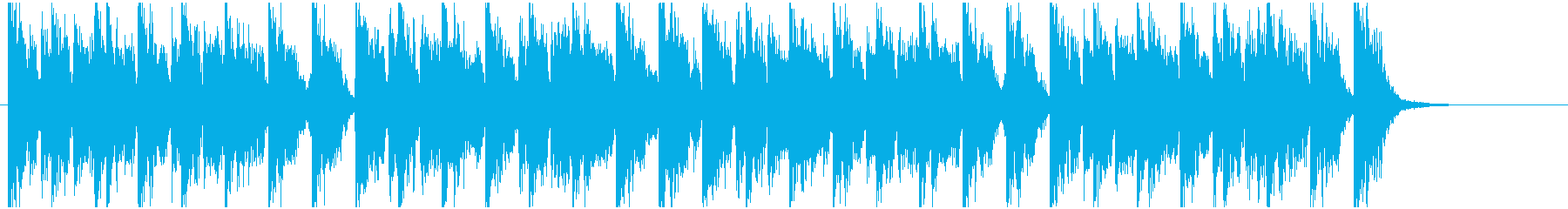 アップテンポでハッピーなジングルの再生済みの波形