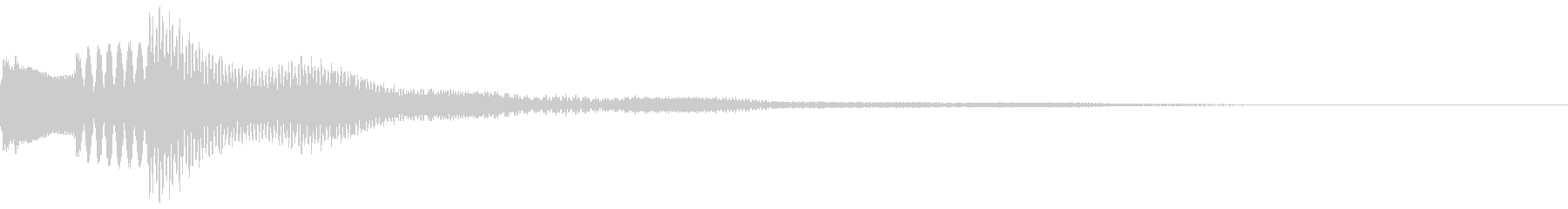 ピロリン 爽やかなプッシュ音の未再生の波形