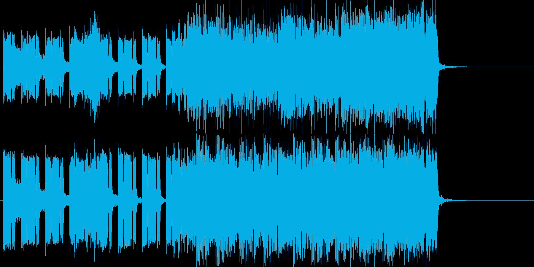 ボクシングの入場のイメージのジングルの再生済みの波形