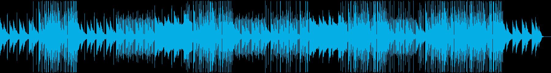 洋楽R&BポップBGMの再生済みの波形