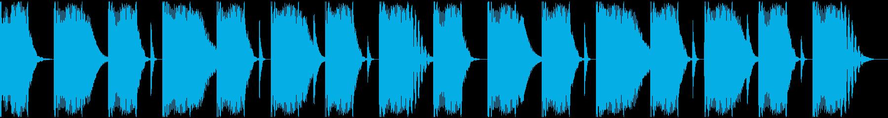 【エレクトロニカ】ロング2、ショート3の再生済みの波形