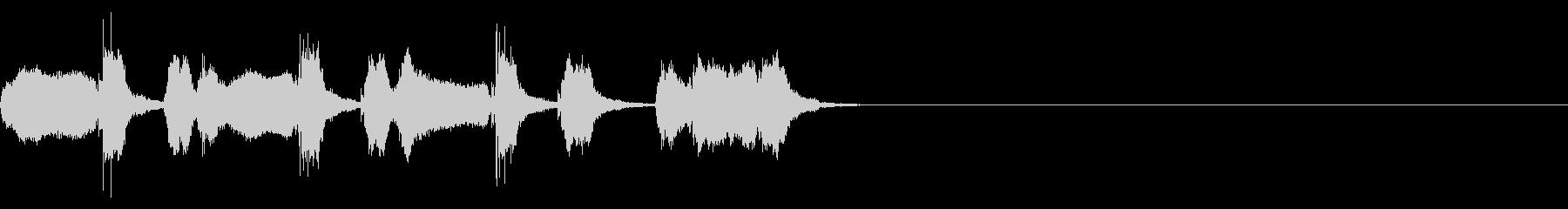 ドゥーワップでシンプルなアカペラジングルの未再生の波形