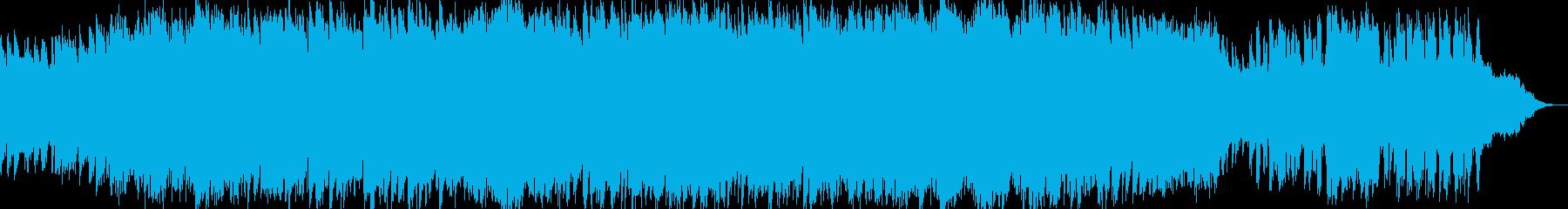 激しくも切ないピアノアンビエントBGMの再生済みの波形