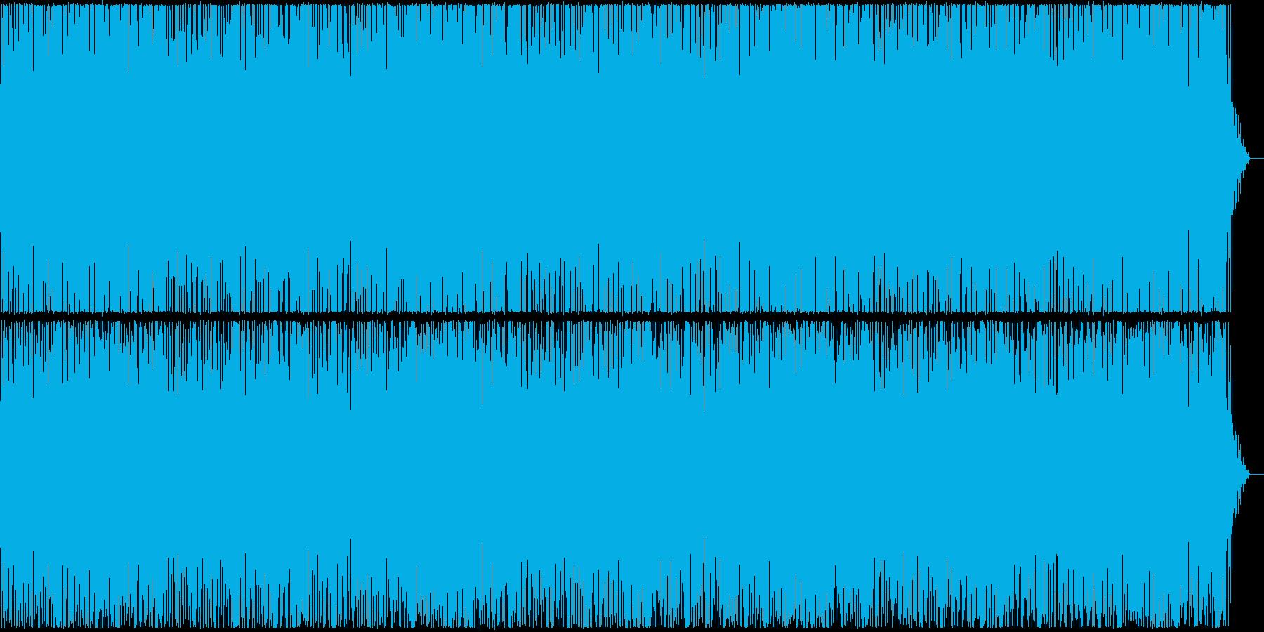 お洒落でパワフルなピアノのBGMの再生済みの波形