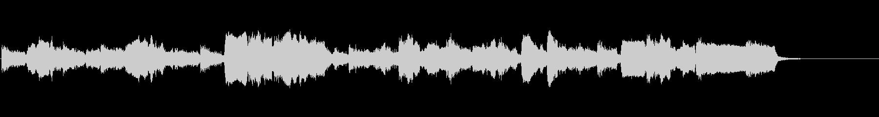 生演奏リコーダーの切なく荘厳なBGMの未再生の波形