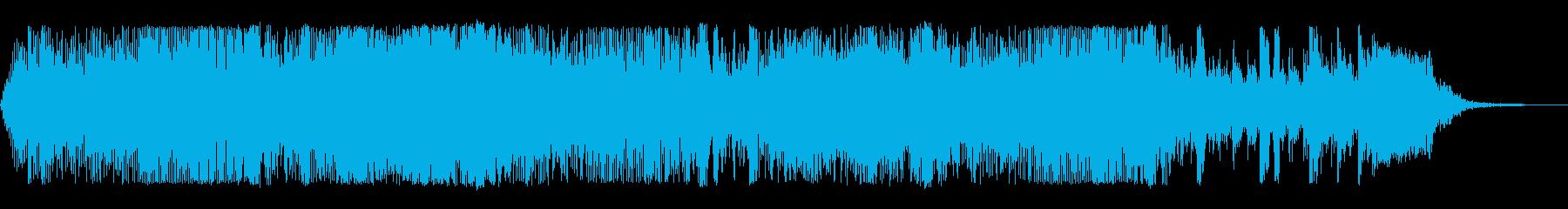 スピード感あふれるロックの再生済みの波形