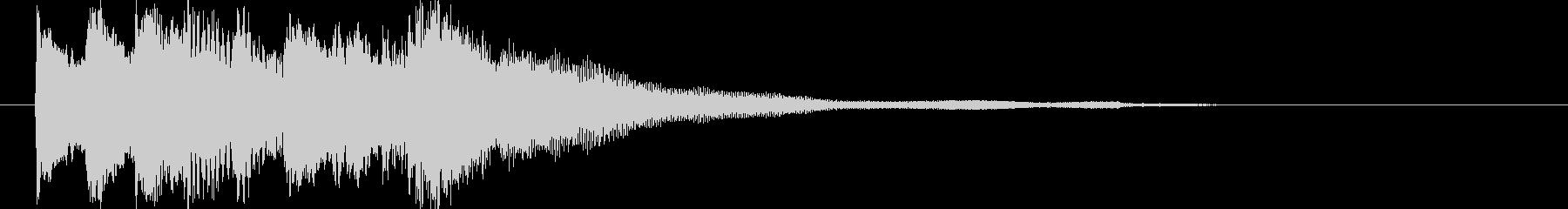 ハープによる優しい音色のジングルの未再生の波形