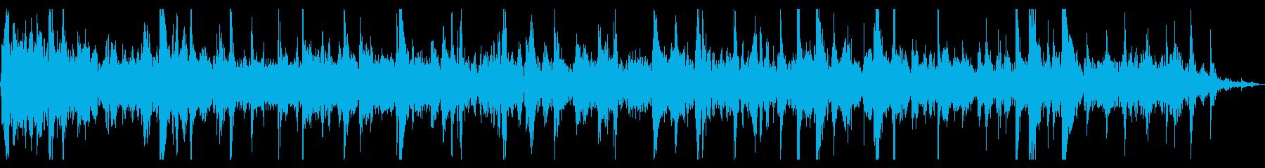水中で泡がぶくぶく弾ける音の再生済みの波形