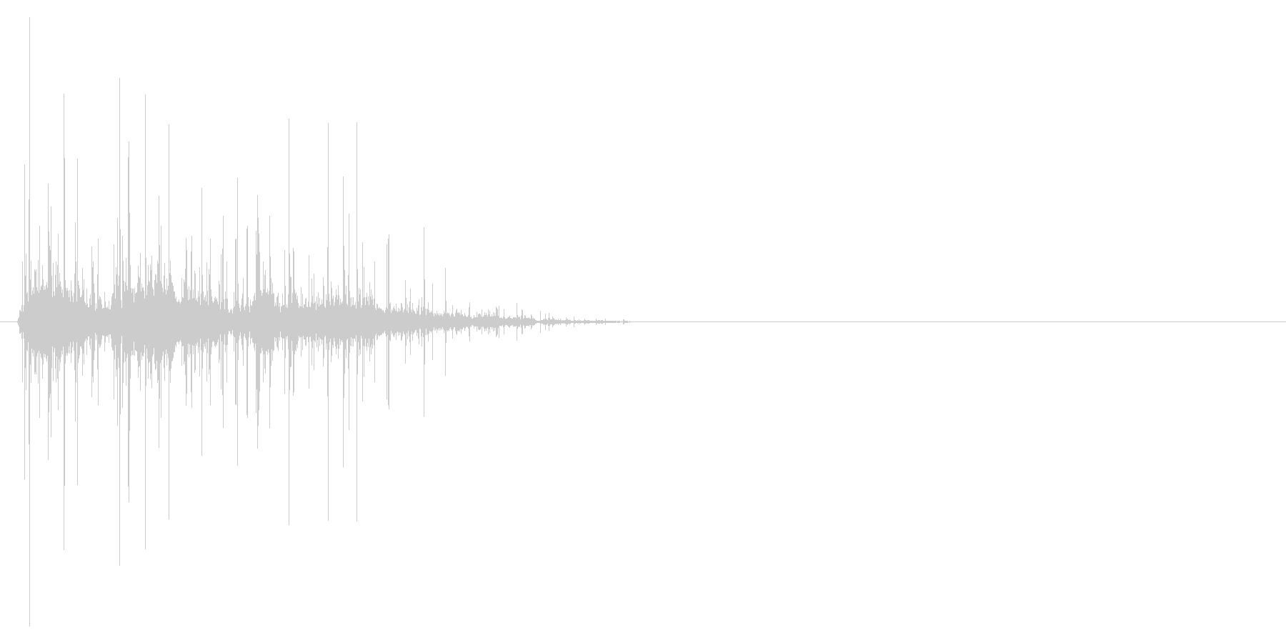 クシャクシャッと紙を丸める時の音の未再生の波形