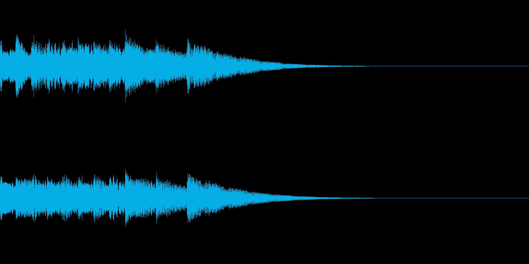 電子的なサウンドロゴの再生済みの波形