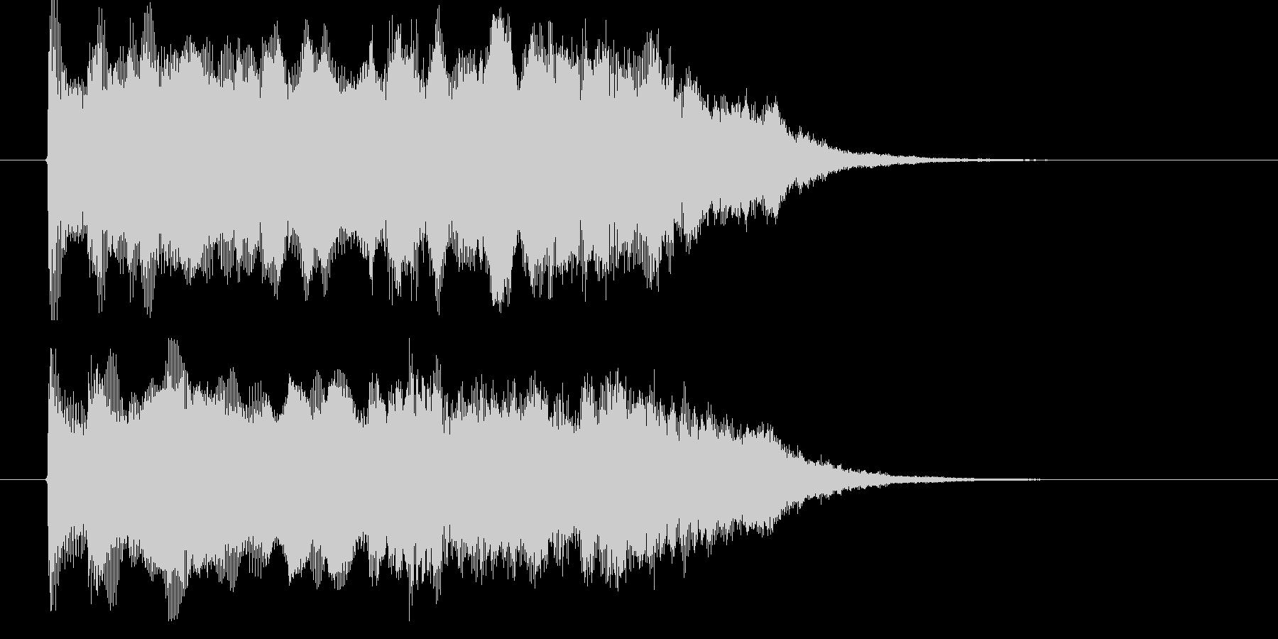 シンセの響きがドラマティックなBGMの未再生の波形