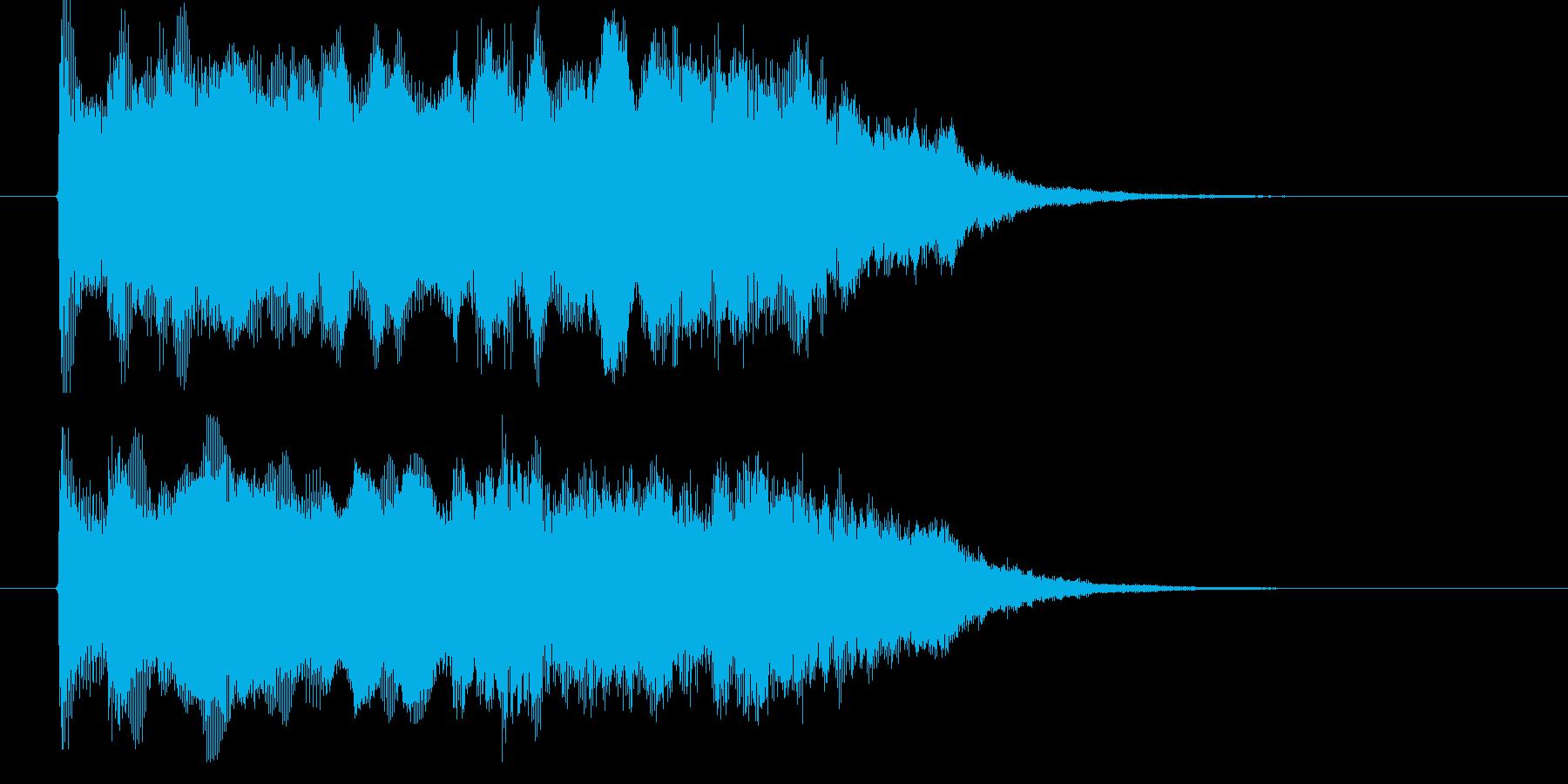 シンセの響きがドラマティックなBGMの再生済みの波形