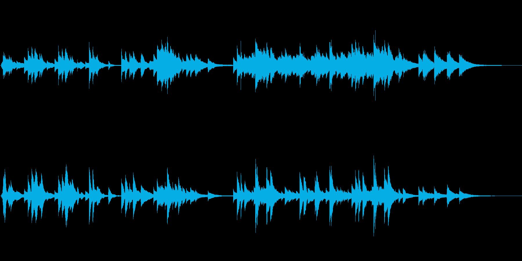 恋するピアノバラードの再生済みの波形