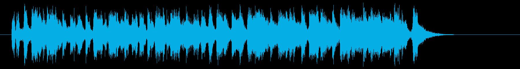 元気で明るいトランペットジングルの再生済みの波形