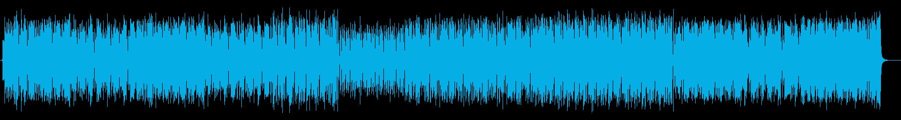 コミカルな効果音入りで楽しいポップスの再生済みの波形