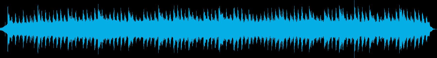 水が放つマイナスイオンとヒーリング音楽の再生済みの波形