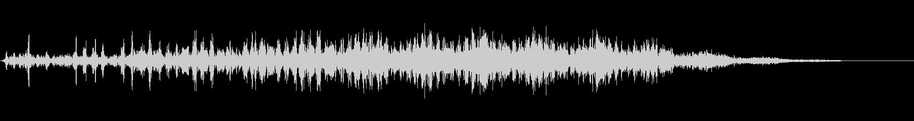 時空を越えて上昇していく音3の未再生の波形