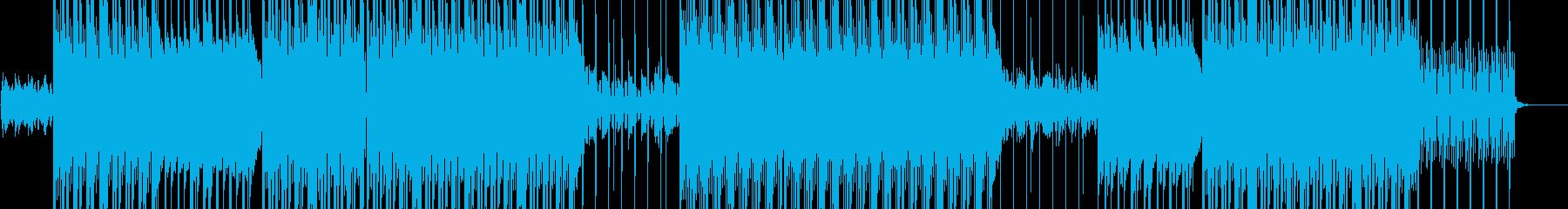 アップテンポトラップビートの再生済みの波形