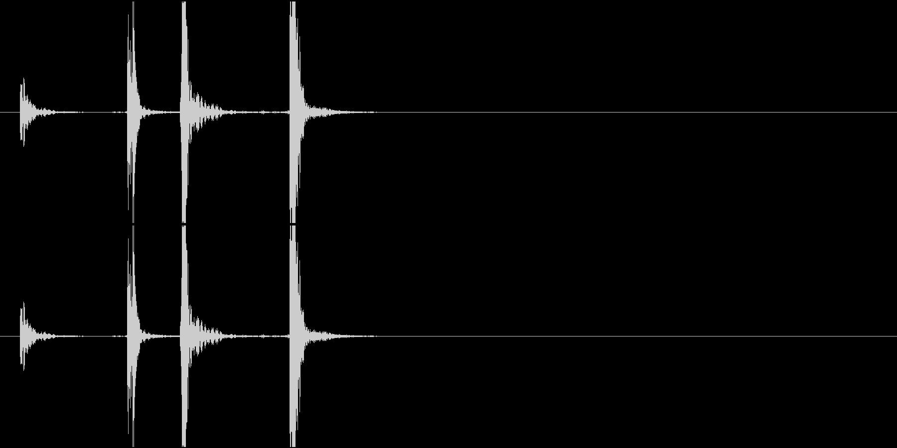 Typing パチパチ 2連打 キー音の未再生の波形
