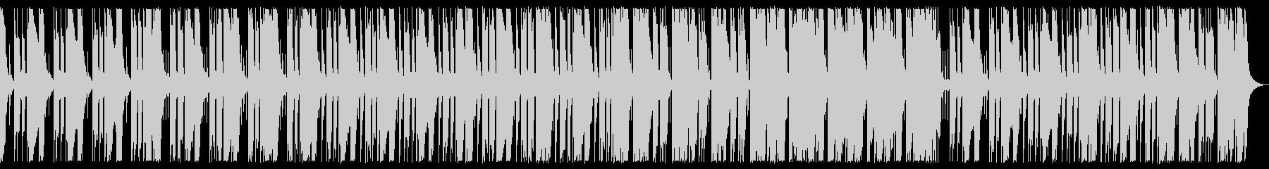 ダークなベース、ドラム、シンセBGMの未再生の波形