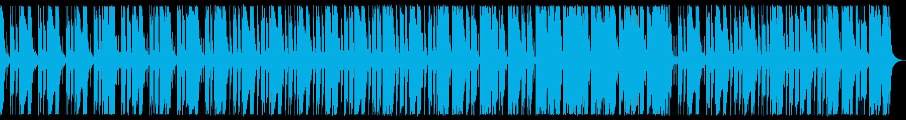 ダークなベース、ドラム、シンセBGMの再生済みの波形