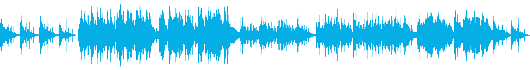 ピアノと二胡による赤とんぼの再生済みの波形
