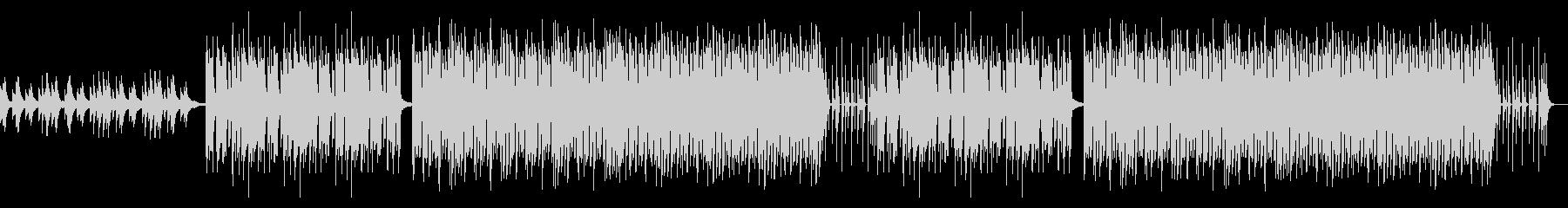 感動的なピアノ主体のBGMの未再生の波形