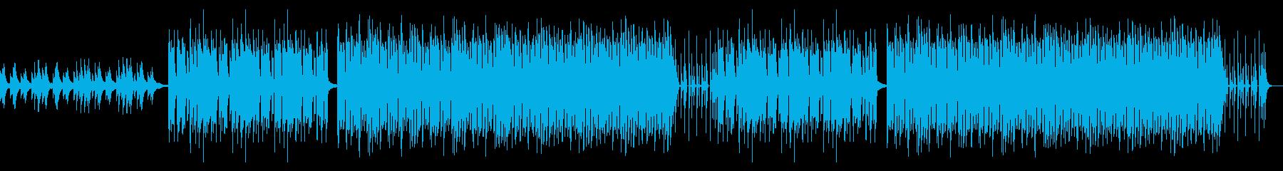 感動的なピアノ主体のBGMの再生済みの波形