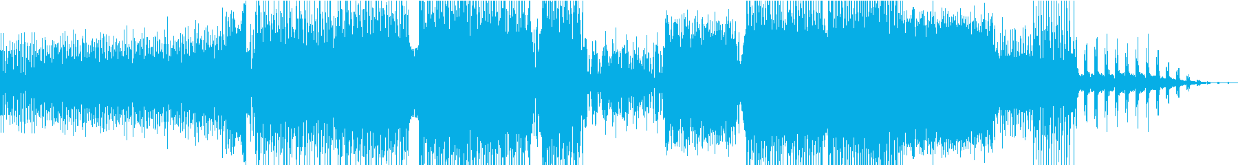 アクションカメラ映像に最適なEDMの再生済みの波形